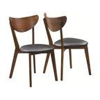 Coaster Malone Mid-Century Modern Dining Side Chair, Set of 2