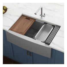 "Ruvati RVH9300 Apron Front 16 Gauge 36"" Kitchen Sink Single Bowl"