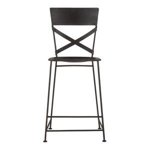 Set of 2 Artezia Metal Chair, Matte Black, Counter Height