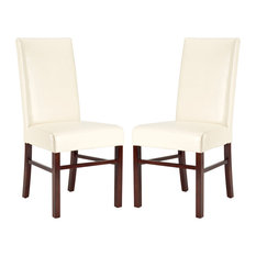 Classic 20-inch Leather Side Chairs Set Of 2