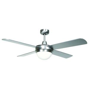 Lucci Futura Eco Ceiling Fan, Silver, 122 cm