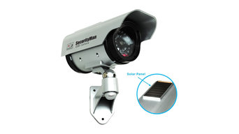 Solar Indoor/Outdoor Dummy Camera With LED