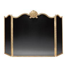 Decorative Crafts Brass Fireplace Screen