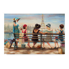"""Steve Henderson 'Ladies Day Out' Canvas Art, 47""""x30"""""""