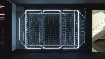 LED Backlit Wine Cellar