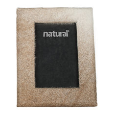"""Durango Cowhide Picture Frame, 8""""x10"""", Natural"""