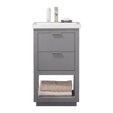 """Klein 20"""" Single Sink Vanity, Gray"""