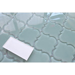 "Rocky Point Tile Co - Seaside Arabesque Glass Mosaic Tile, 12""x12"" - Bring a touch of elegance to your new new kitchen backsplash or bathroom with our Seaside Arabesque Glass Tiles. These tiles are stunning! The color is an aqua blue green. Consider mingling other colors in this series to add a little pop to your project! We also carry Seaside in a 3x6 and 4x12 subway tile, and a linear mosaic."
