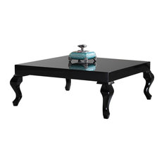 La Viola Decor   Glossy Lacquer Lukens Coffee Table, Black   Coffee Tables