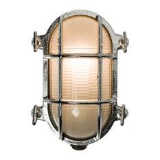 Oval Bulkhead-Style Light, Chrome