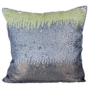 Ombre Theme 30x30 Silk Silver Cushions Cover, Cabaret