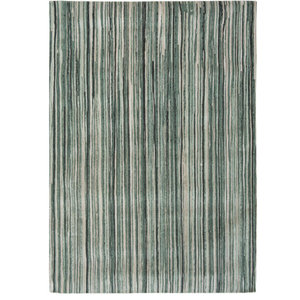 Atlantic Ocean 8592 Rug, Green Stripe, 80x150 cm