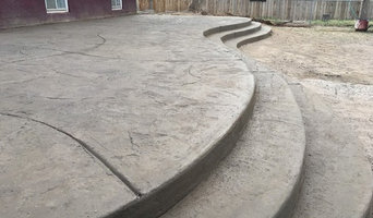 Stamped and Colored Concrete work