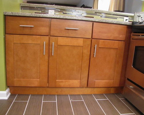 Brown Shaker Cabinets Houzz