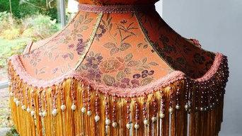 Simla - a Victorian style lampshade in vintage Kimono silk