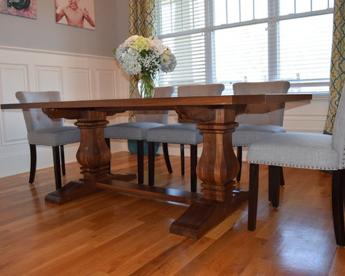 Custom Walnut Trestle Table in East Charlotte, NC