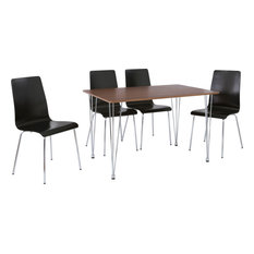 Barrie 5-Piece Dining Set, Black