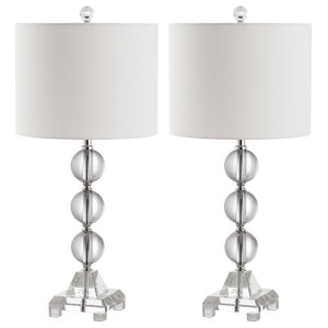 Safavieh Riley Table Lamps, Crystal, Set of 2
