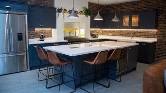 Navy Blue Modern Kitchen