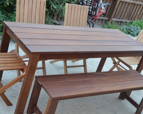 Ipe Outdoor Dining Table And Bench   Products