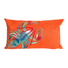 "Visions II Lobster Pillow, Orange, 12""x20"""