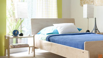 Wood Arlo Twin Bed with Bench