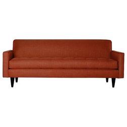 Midcentury Sofas Monroe Apartment Sofa, Tangerine