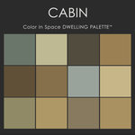 """Benjamin Moore® Paint colors - Color in Space Cabin Palette™ Swatches - Each palette consists of twelve Benjamin Moore® paint colors in 4"""" swatches and no colors are repeated. The intentional selection of the twelve colors ensures that they are energetically balanced and will create the feeling of the dwelling for which it is named."""