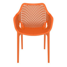 Air XL Outdoor Dining Arm Chair Orange