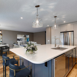Example of an eclectic kitchen design in Calgary