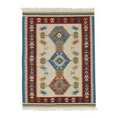 Kilim Classic Cream Floor Rug, 185x125 cm