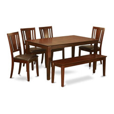 6-Piece Kitchen Table With Bench Kitchen Table And 4 Chairs And Bench