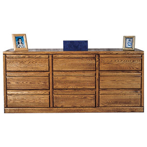 Bullnose Nine Drawer Dresser Unfinished Alder