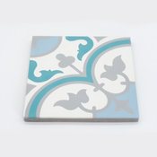 "8""x8"" Casa Handmade Cement Tile in Multicolor, Set of 12"