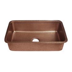 """Orwell 30"""" Undermount Copper Kitchen Sink, Antique Copper"""