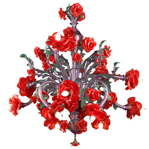 Flamenco Murano Glass Chandelier