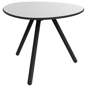 A-Lowha Side Table, Grey, Black Frame