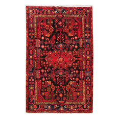 Consigned, Persian 5 x 8 Area Rug, Hamadan Hand-Knotted Wool Rug
