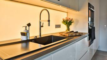 Küchenspiegel mit beleuchtetem CLEVERGLAS
