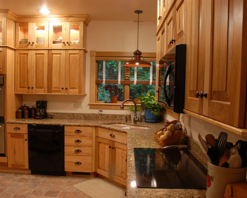 Rustic look with Hickory cabinets from KraftMaid