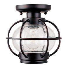Maxim   Maxim Portsmouth 1 Light Seedy Glass Outdoor Semi Flush Mount    Outdoor