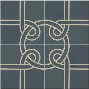 Knot Pattern Tiles, Set of 12