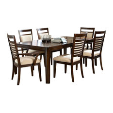Standard Furniture   Standard Furniture Avion 7 Piece Dining Room Set In  Cherry   Dining
