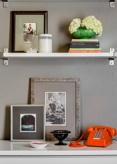 Eclectic Home Office by Melinda Mandell Interior Design