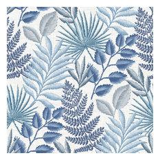 Palomas Blue Botanical Wallpaper Bolt