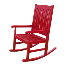 Perfect International Caravan   Outdoor Wood Porch Rocker, Red   Outdoor Rocking  Chairs