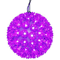 "10"" Starlight Sphere Christmas Ornament, 150 Purple Wide Angle LED Lights"