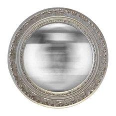 EMDE - EMDE Round Chiselled Silver Mirror - Wall Mirrors