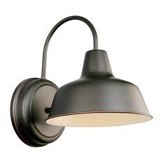"Mason 1-Light Indoor/Outdoor Wall Mount 8"" Light, Oil Rubbed Bronze"