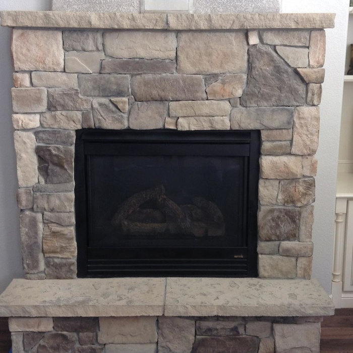 The Contemporary Stone Fireplace Painting